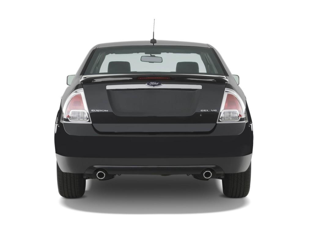 image 2009 ford fusion 4 door sedan v6 sel fwd rear. Black Bedroom Furniture Sets. Home Design Ideas