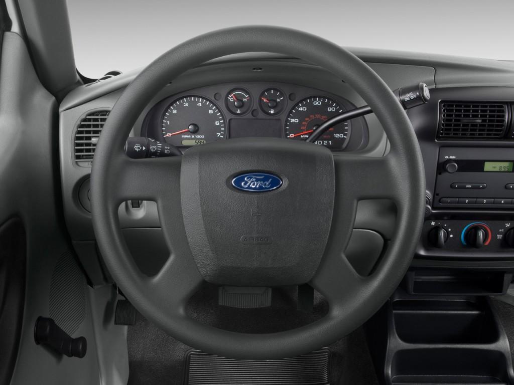 "Image: 2009 Ford Ranger 2WD 2-door SuperCab 126"" Sport Steering Wheel, size: 1024 x 768, type ..."
