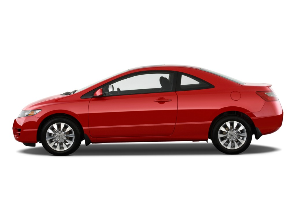 Image: 2009 Honda Civic Coupe 2-door Man EX Side Exterior View, size: 1024 x 768, type: gif ...
