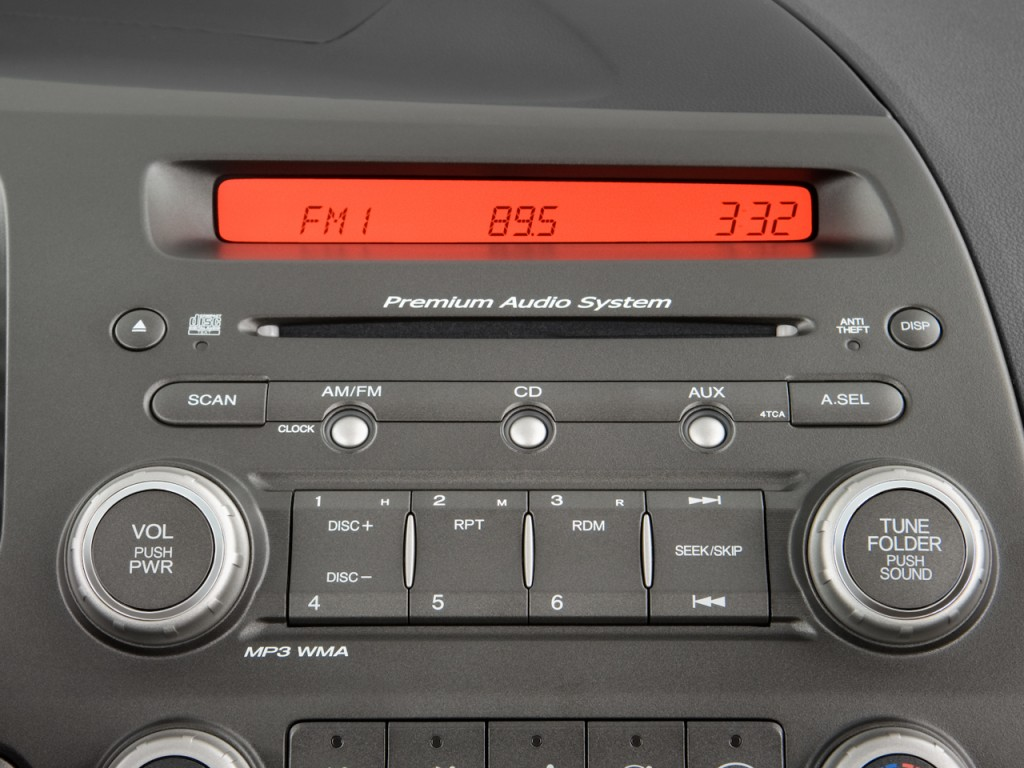 Image: 2009 Honda Civic Coupe 2-door Man Si Audio System, size: 1024