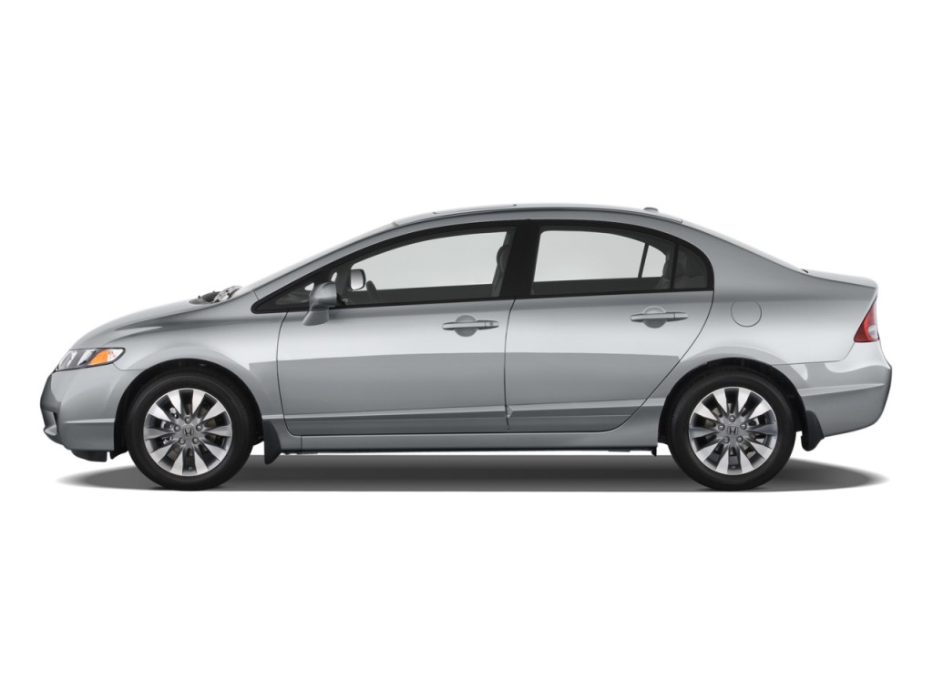 Image 2009 Honda Civic Sedan 4 Door Auto Ex L W Navi Side Exterior View Size 1024 X 768 Type