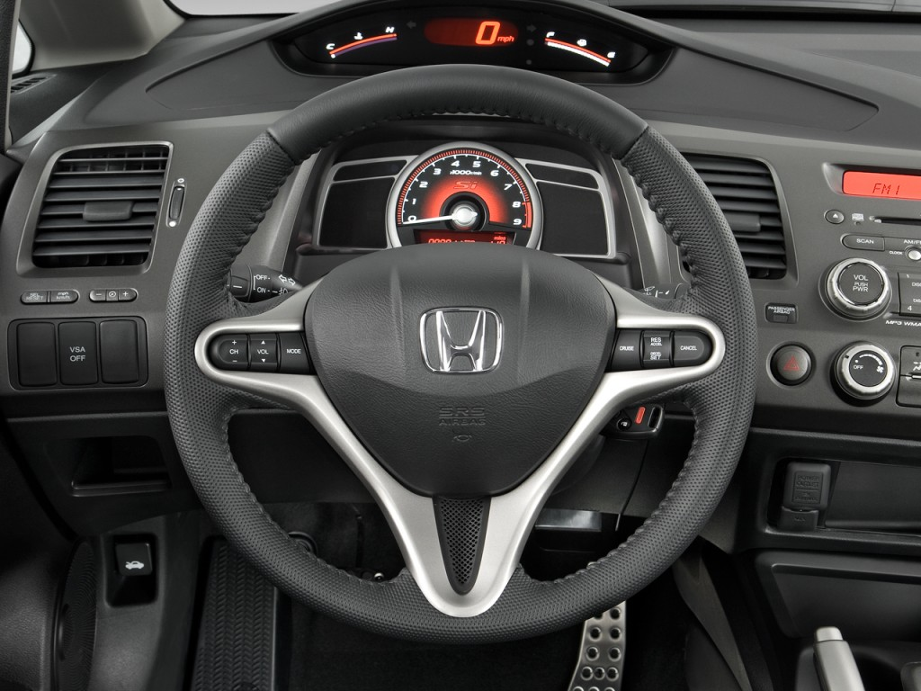image 2009 honda civic sedan 4 door man si steering wheel. Black Bedroom Furniture Sets. Home Design Ideas