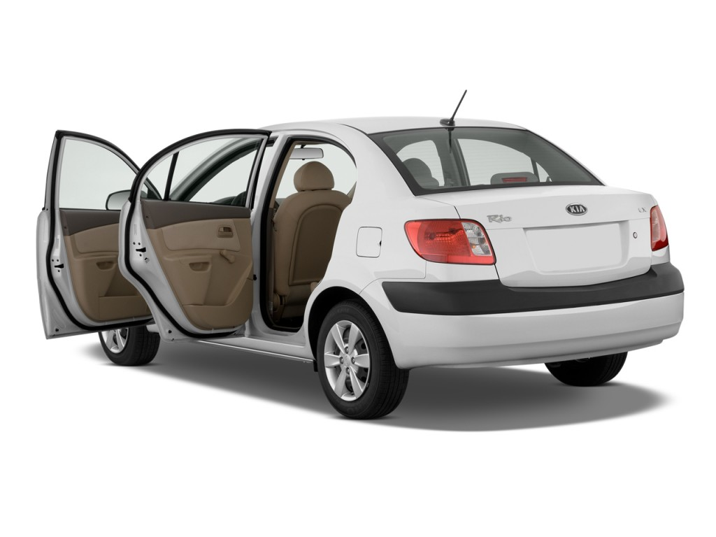Image: 2009 Kia Rio 4-door Sedan Auto LX Open Doors, size ...