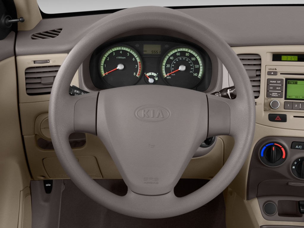 Image 2009 Kia Rio 4 Door Sedan Auto Lx Steering Wheel