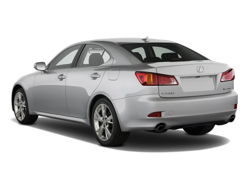 Image 2009 Lexus Is 250 4 Door Sport Sedan Auto Rwd Angular Rear Exterior View Size 1024 X