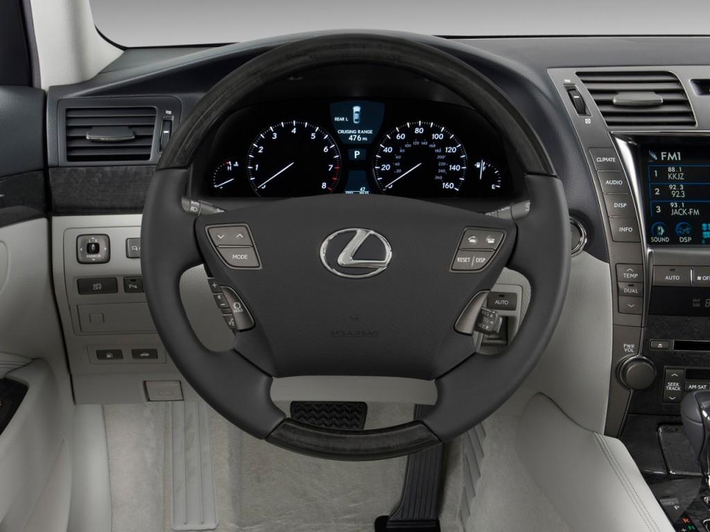 image 2009 lexus ls 460 4 door sedan rwd steering wheel. Black Bedroom Furniture Sets. Home Design Ideas