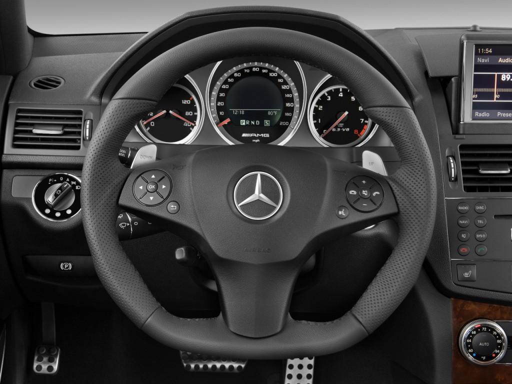 image 2009 mercedes benz c class 4 door sedan 6 3l amg rwd steering wheel size 1024 x 768. Black Bedroom Furniture Sets. Home Design Ideas