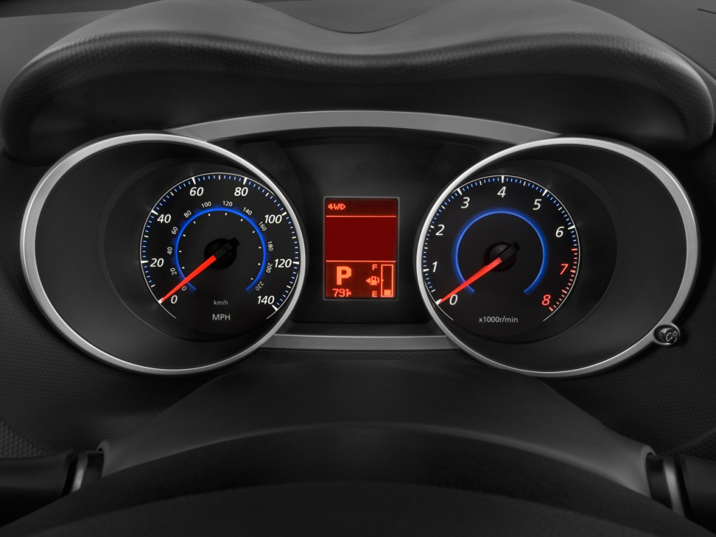 Image 2009 Mitsubishi Outlander Awd 4 Door Xls Instrument Cluster Size 1024 X 768 Type Gif