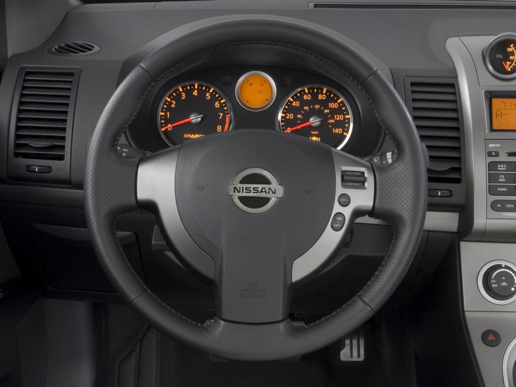 image 2009 nissan sentra 4 door sedan man se r spec v steering wheel size 1024 x 768 type. Black Bedroom Furniture Sets. Home Design Ideas