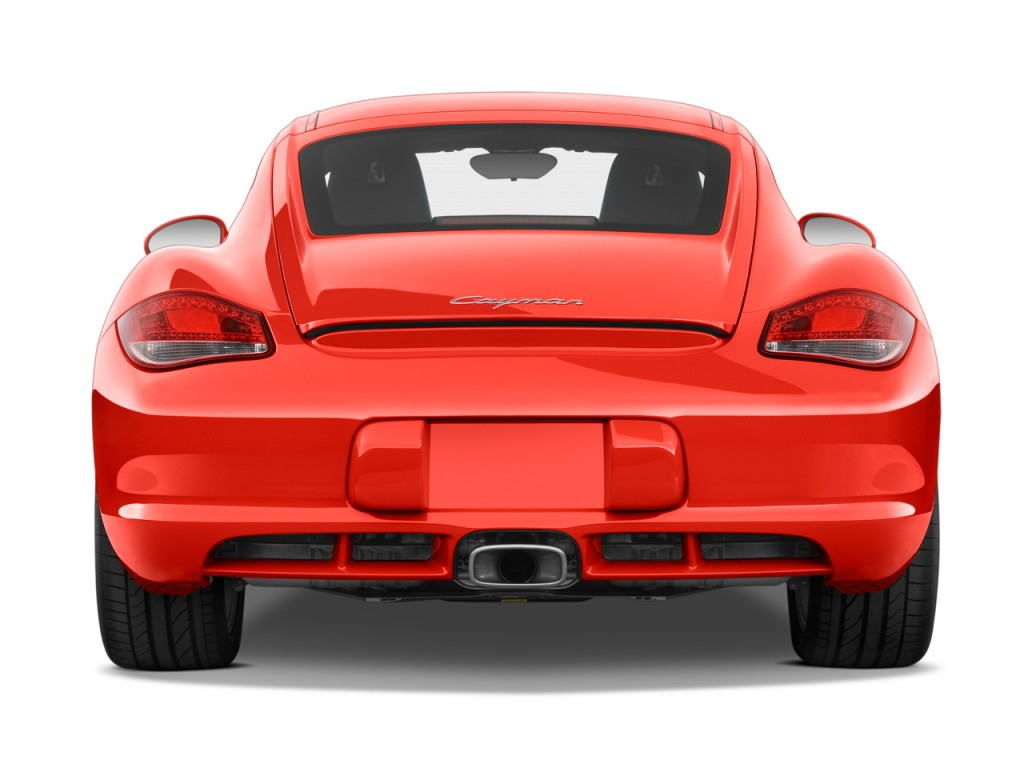 Image 2009 porsche cayman 2 door coupe rear exterior view for Rear exterior door