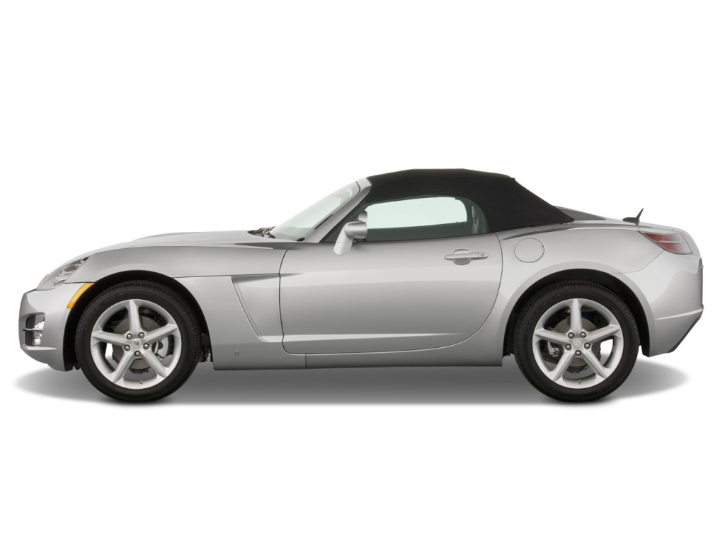 2 Door Convertible >> Image 2009 Saturn Sky 2 Door Convertible Side Exterior View Size