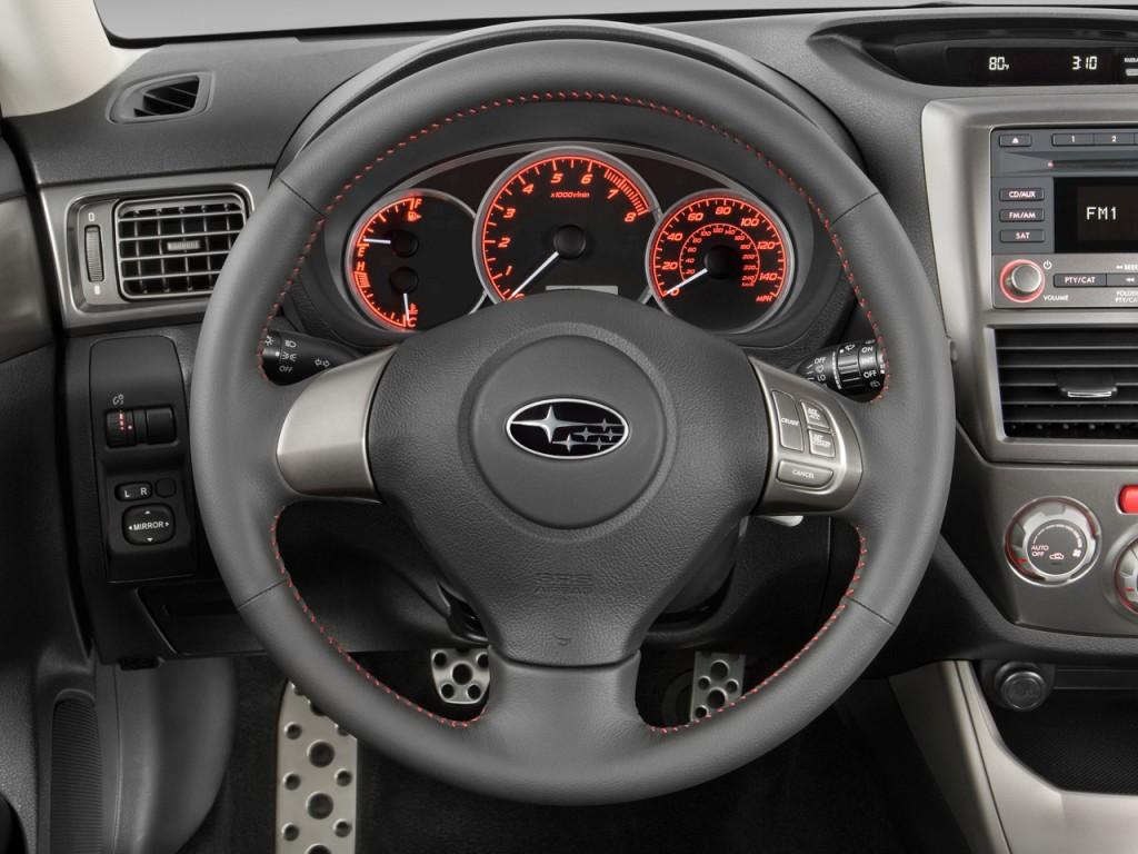 image 2009 subaru impreza wrx 5dr man steering wheel. Black Bedroom Furniture Sets. Home Design Ideas