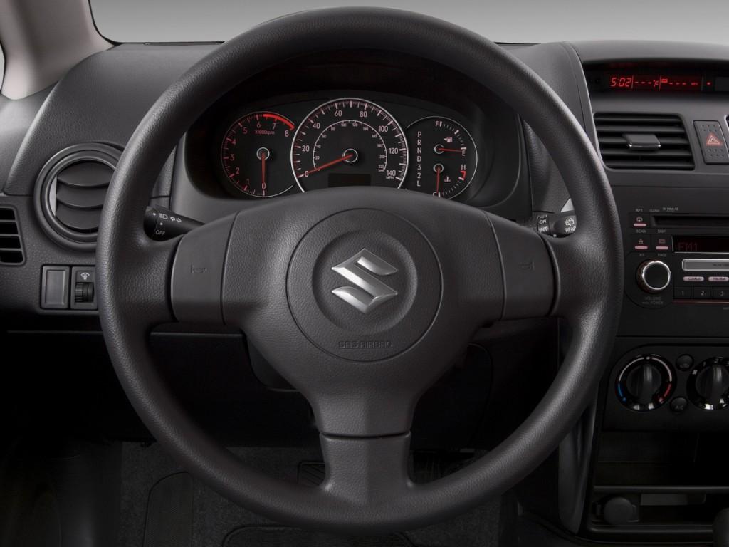 Image: 2009 Suzuki SX4 5dr HB Man AWD Steering Wheel, size ...
