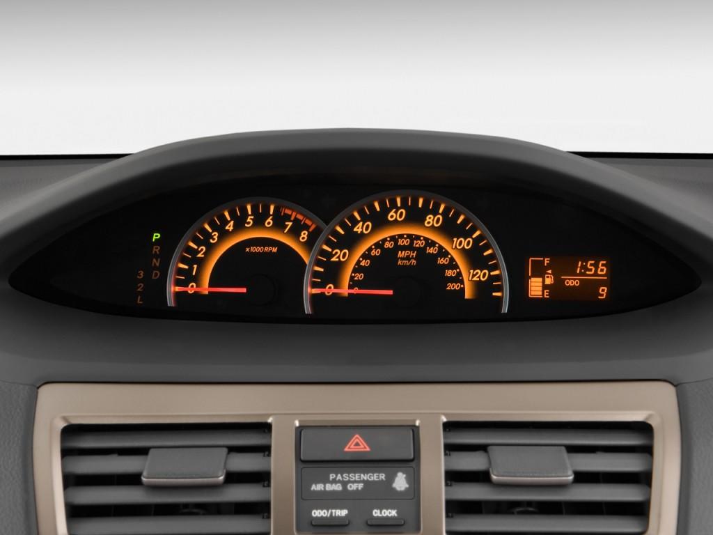 Toyota Highlander Vs Toyota 4Runner >> Image: 2009 Toyota Yaris 4-door Sedan Auto S (Natl) Instrument Cluster, size: 1024 x 768, type ...