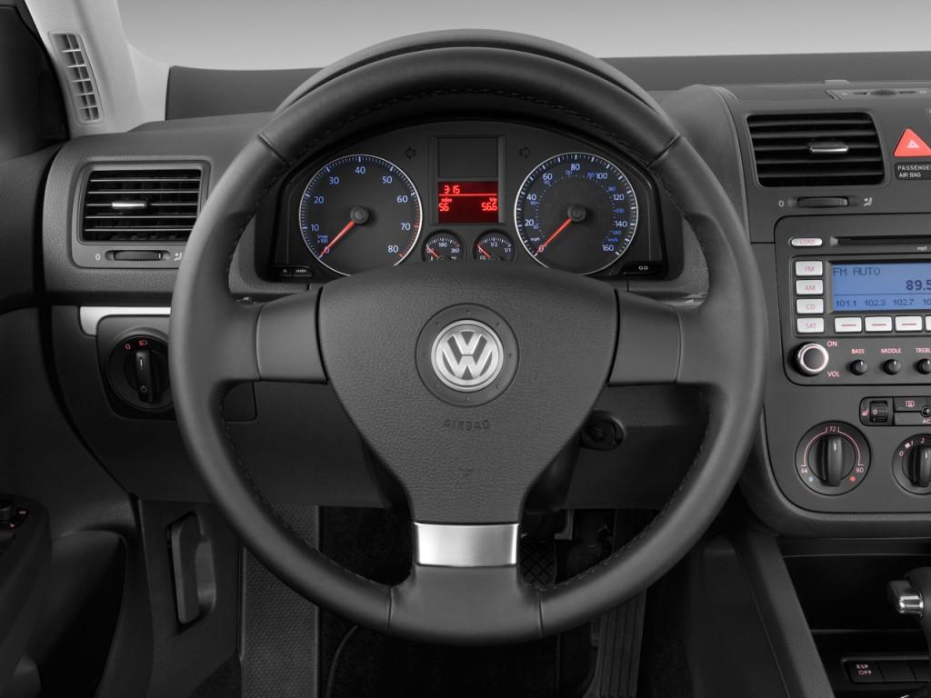 Image: 2009 Volkswagen Jetta Sedan 4-door Auto SE Steering ...