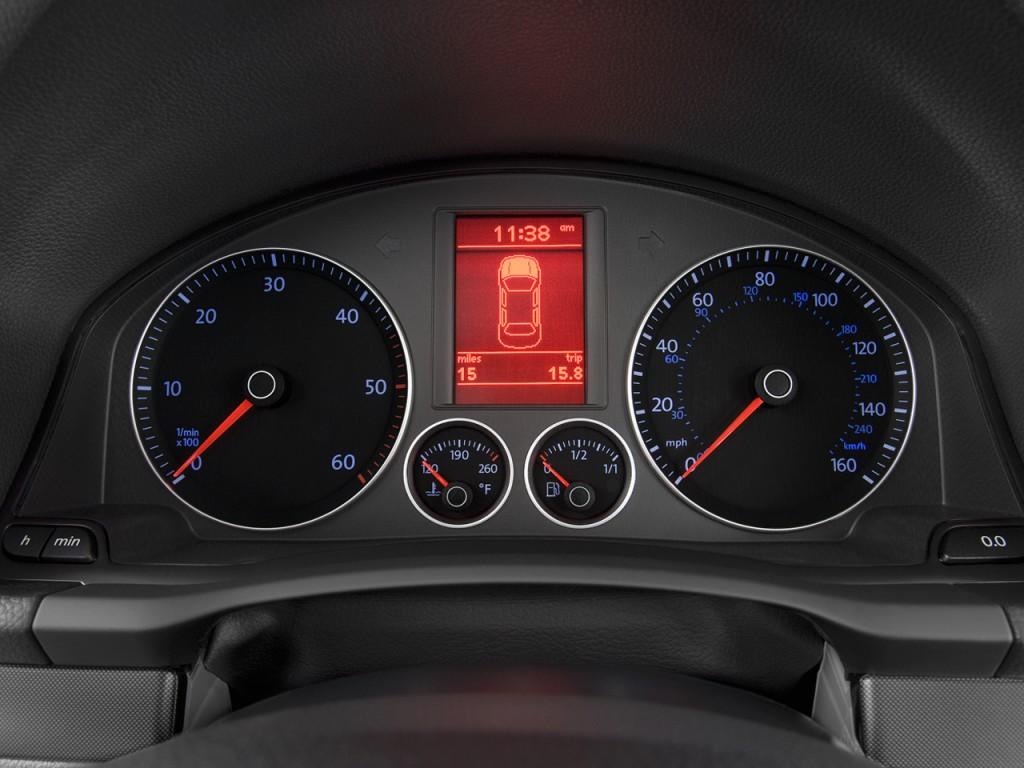 Image: 2009 Volkswagen Jetta Sedan 4-door DSG TDI Instrument Cluster, size: 1024 x 768, type ...