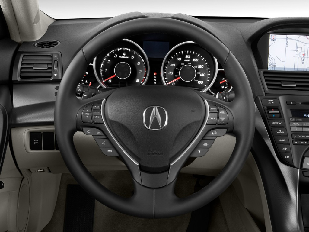 image 2010 acura tl 4 door sedan 2wd tech steering wheel. Black Bedroom Furniture Sets. Home Design Ideas