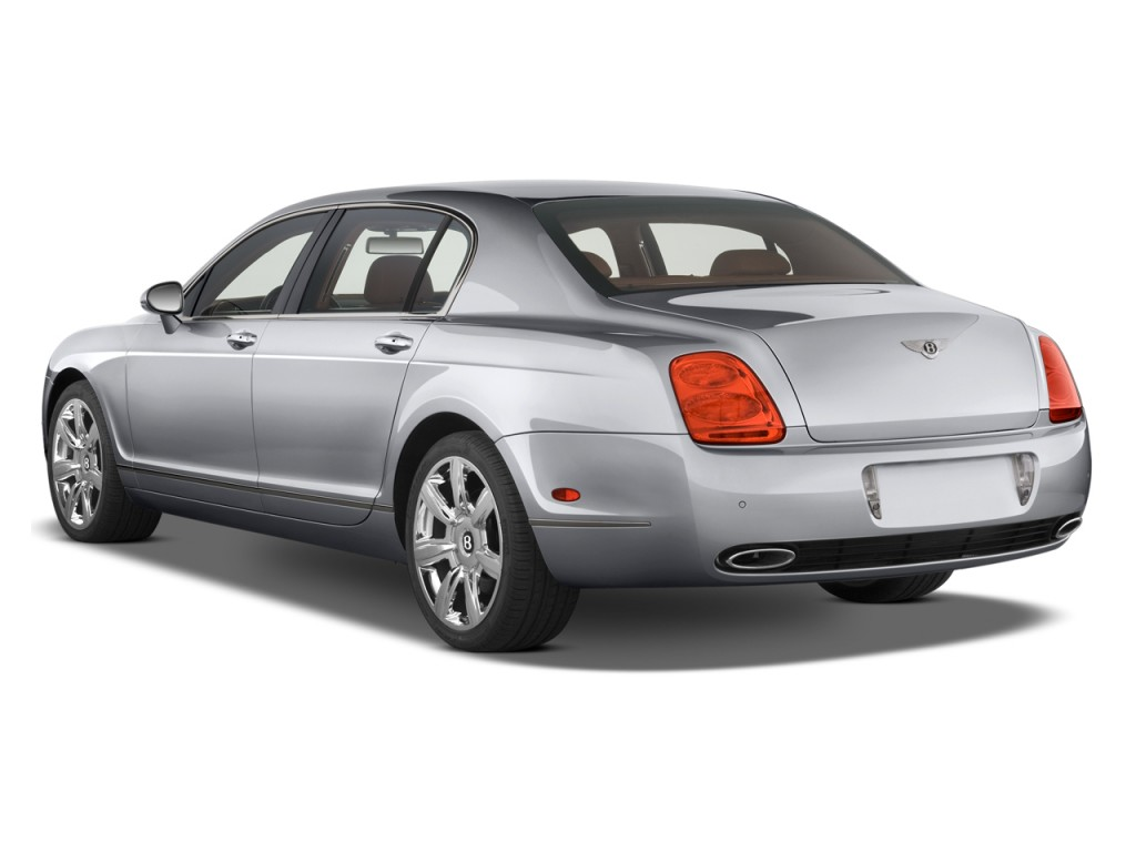 2010 Bentley Continental Flying Spur 4-door Sedan Angular Rear Exterior View