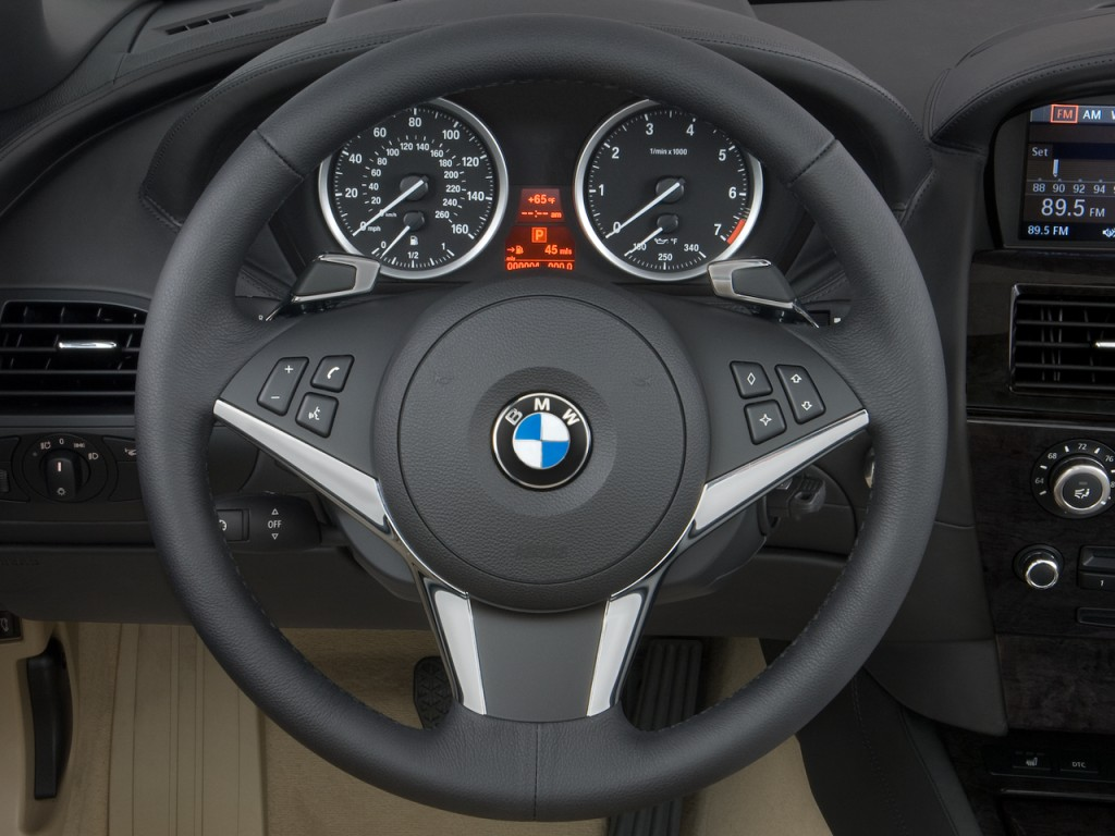 Bmw X2 2017 Aaa >> Image: 2010 BMW 6-Series 2-door Convertible 650i Steering Wheel, size: 1024 x 768, type: gif ...