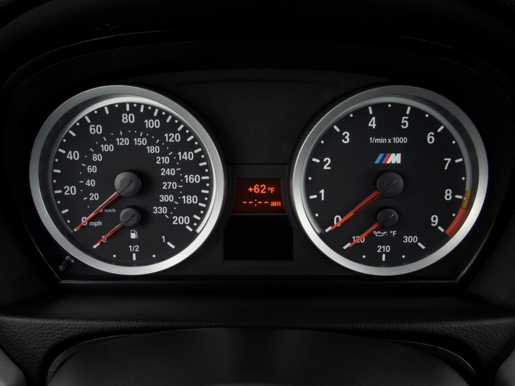All BMW Models 2010 bmw m3 coupe Image: 2010 BMW M3 2-door Coupe Instrument Cluster, size: 1024 x ...