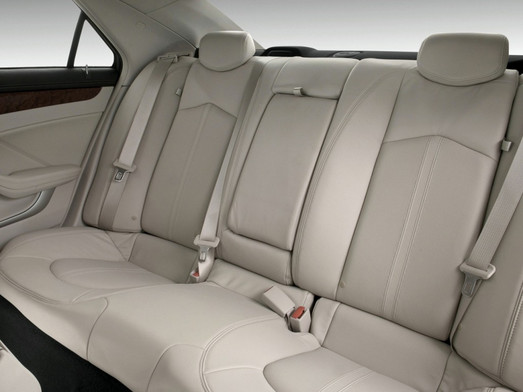 Image: 2010 Cadillac CTS 4-door Sedan 3.0L RWD Rear Seats ...