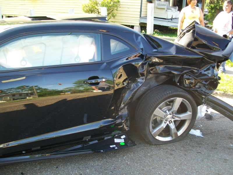 Wrecked 2010 Camaro SS, Less Than a Day Old