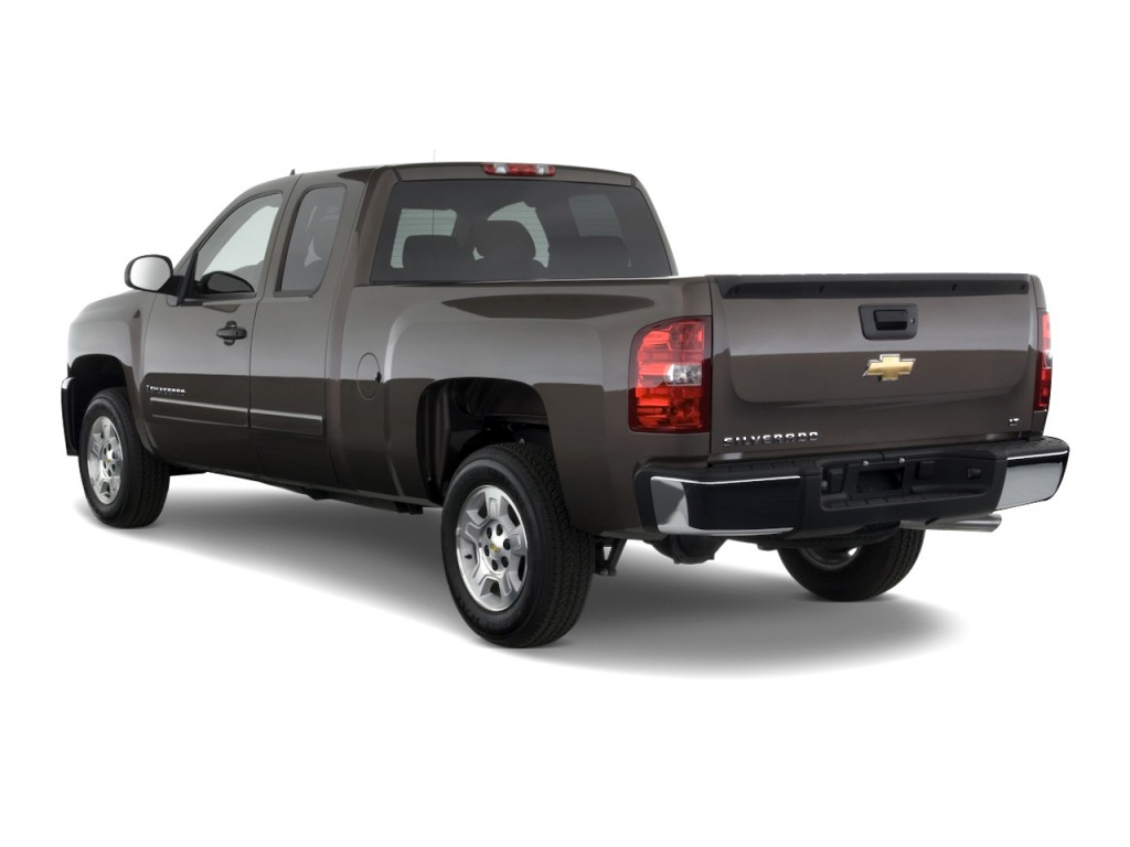 "2010 Chevrolet Silverado 1500 2WD Ext Cab 157.5"" LT Angular Rear Exterior View"