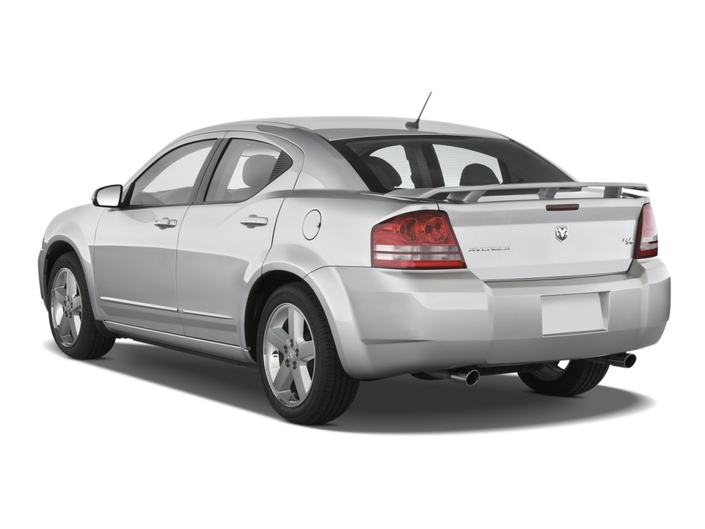 Image 2010 dodge avenger 4 door sedan r t angular rear for Rear exterior door