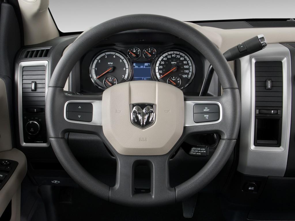 "New Diesel Trucks 2018 >> Image: 2010 Dodge Ram 1500 2WD Quad Cab 140.5"" SLT Steering Wheel, size: 1024 x 768, type: gif ..."