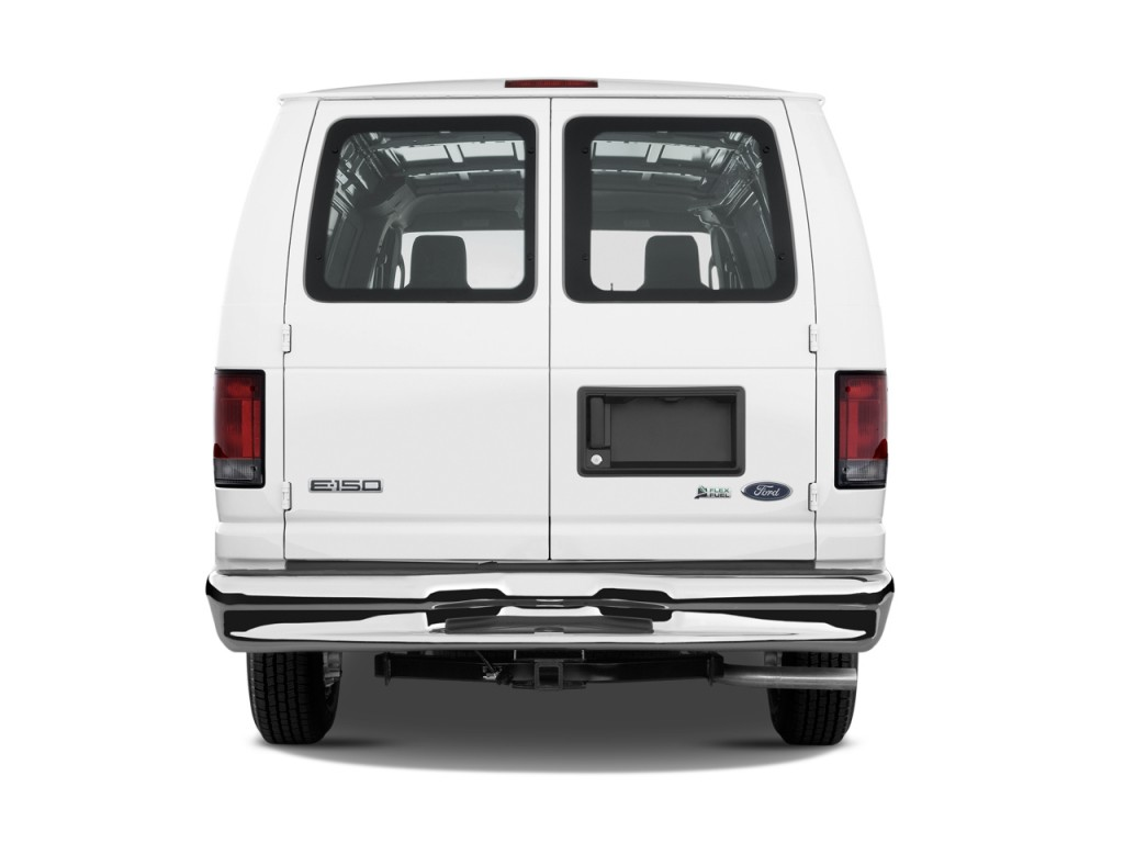 2010 ford econoline cargo van e 150 commercial rear exterior view