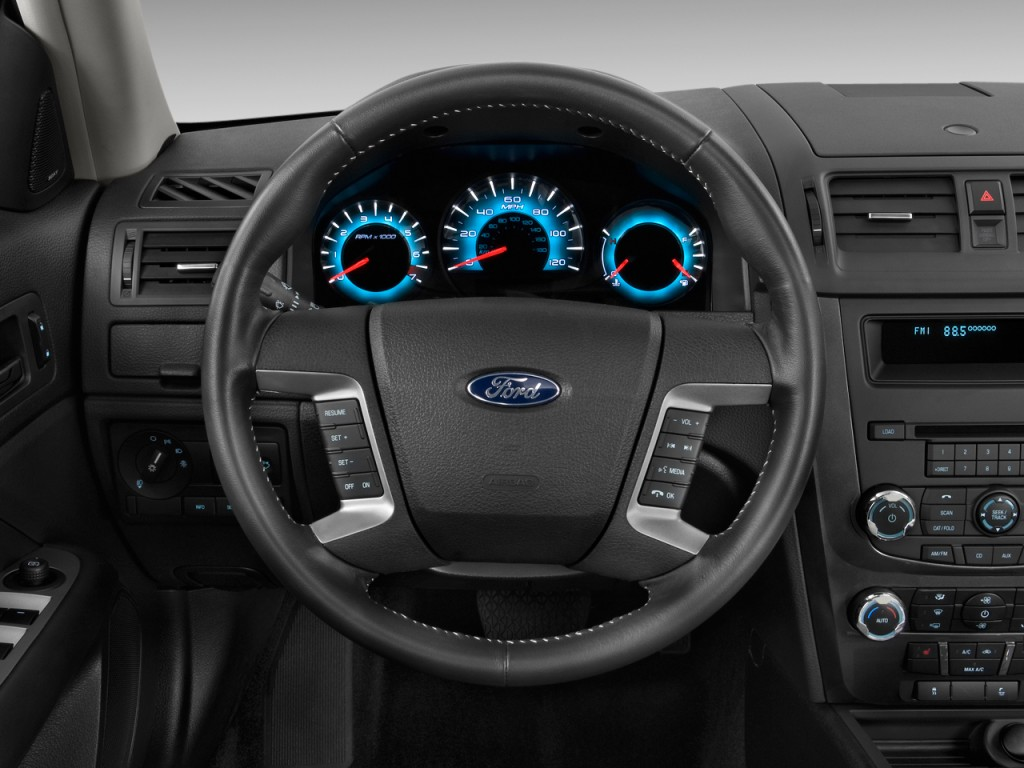 image 2010 ford fusion 4 door sedan sport fwd steering wheel size 1024 x 768 type gif. Black Bedroom Furniture Sets. Home Design Ideas