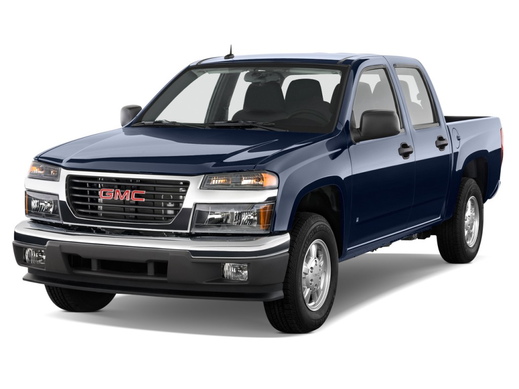 """2010 GMC Canyon 2WD Crew Cab 126.0"""" SLE1 Angular Front Exterior View"""