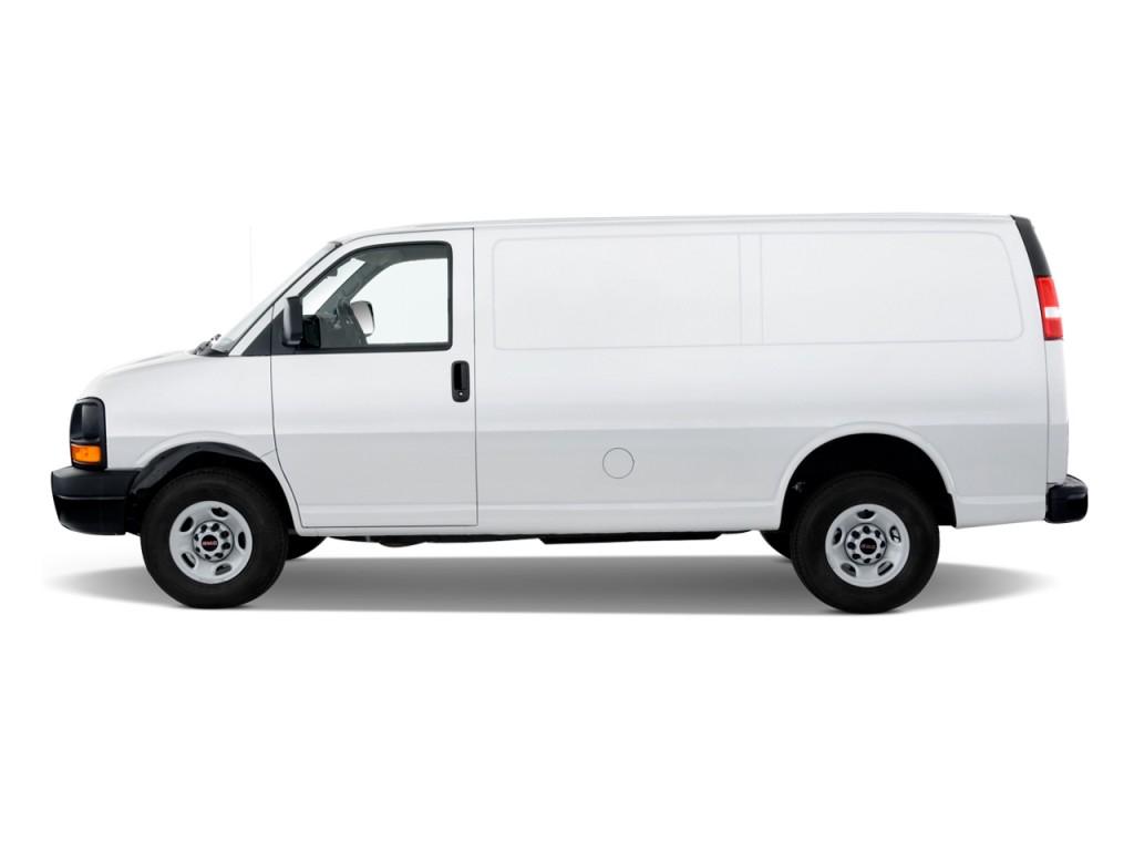 "Yukon Xl Vs Suburban >> Image: 2010 GMC Savana Cargo Van RWD 2500 135"" Side"