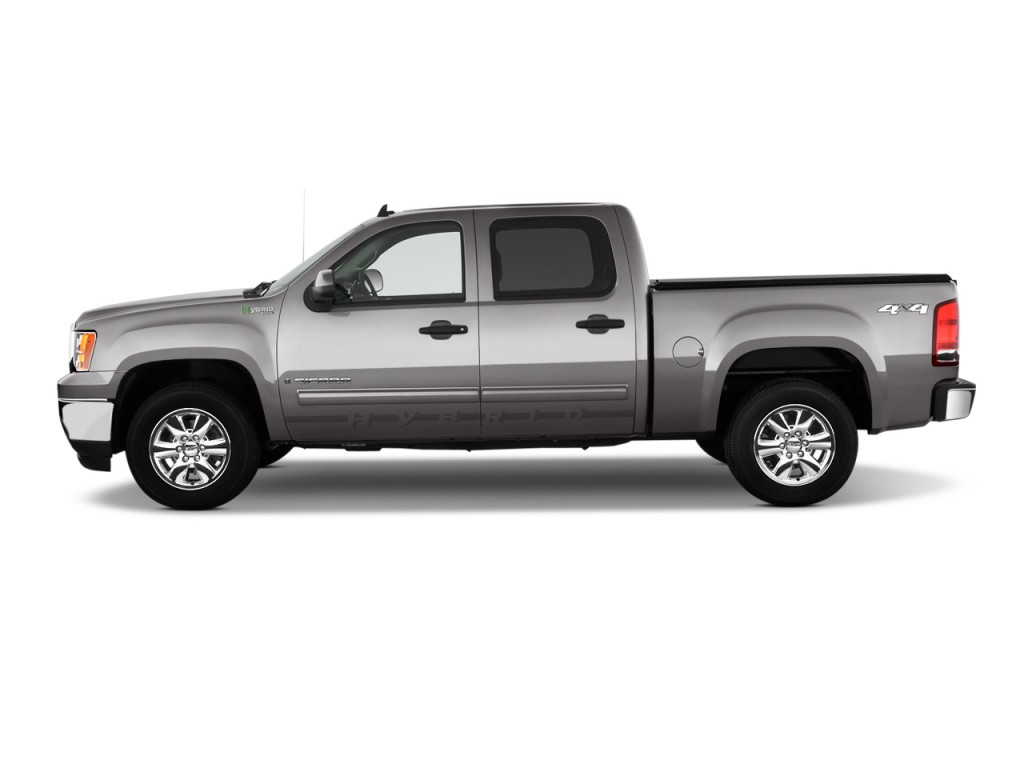 "2010 GMC Sierra 1500 Hybrid 4WD Crew Cab 143.5"" 3HB Side Exterior View"