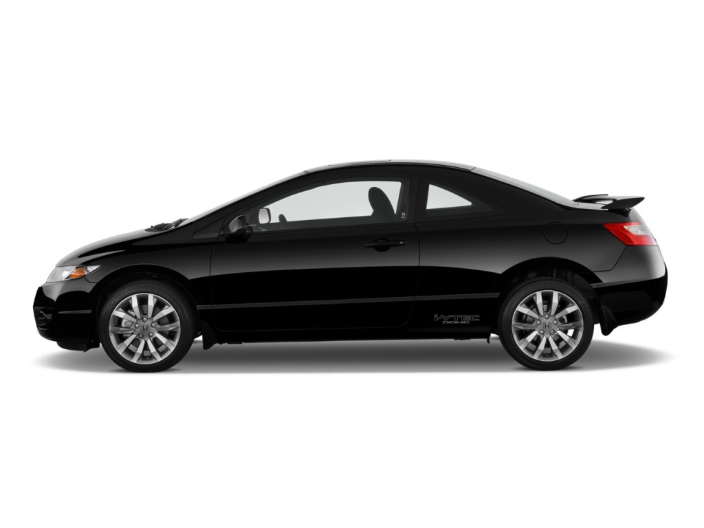 image 2010 honda civic coupe 2 door man si side exterior. Black Bedroom Furniture Sets. Home Design Ideas