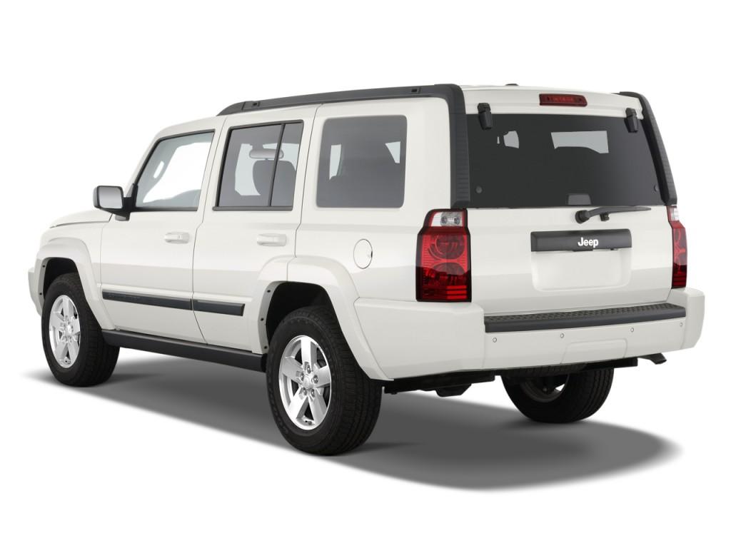 image 2010 jeep commander rwd 4 door sport angular rear. Black Bedroom Furniture Sets. Home Design Ideas