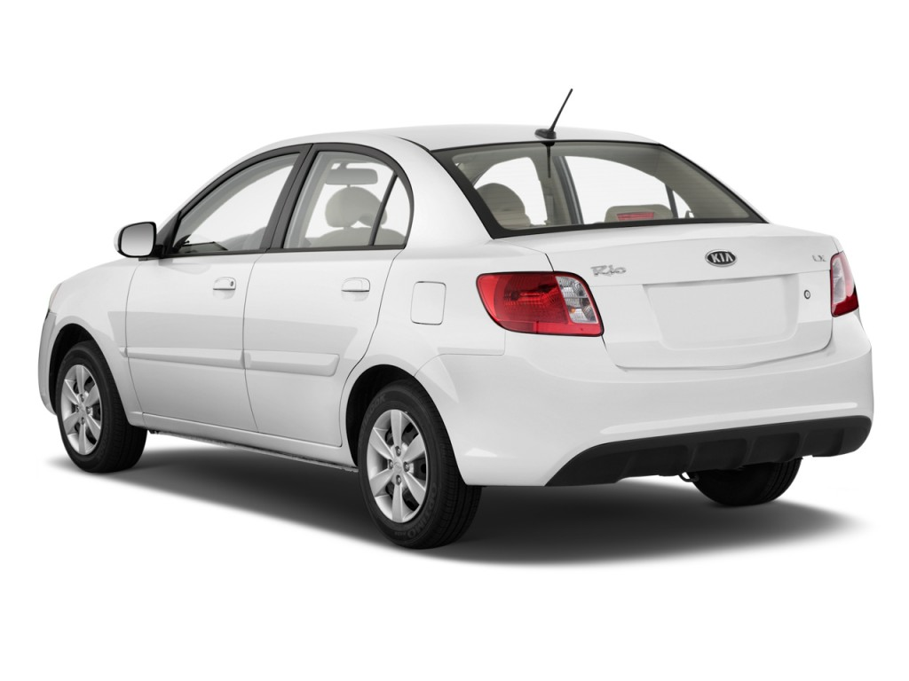 2010 Kia Rio 4-door Sedan Auto LX Angular Rear Exterior View