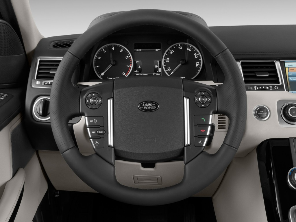 image 2010 land rover range rover sport 4wd 4 door hse steering wheel size 1024 x 768 type. Black Bedroom Furniture Sets. Home Design Ideas