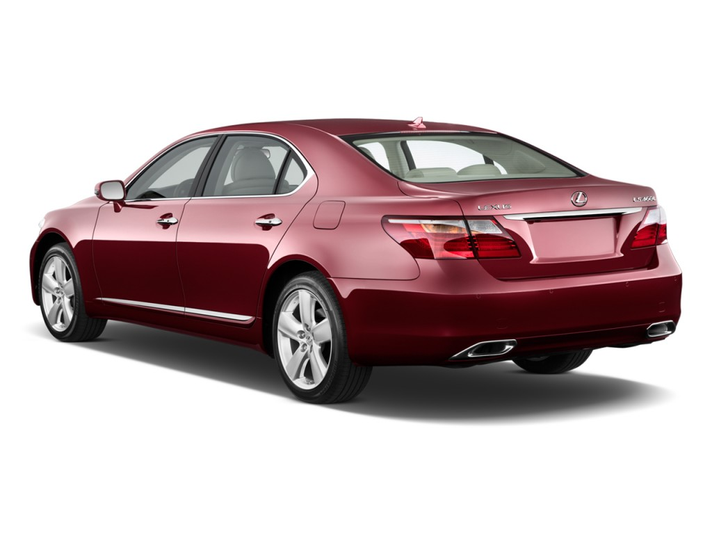 2010 Lexus LS 460 4-door Sedan L RWD Angular Rear Exterior View