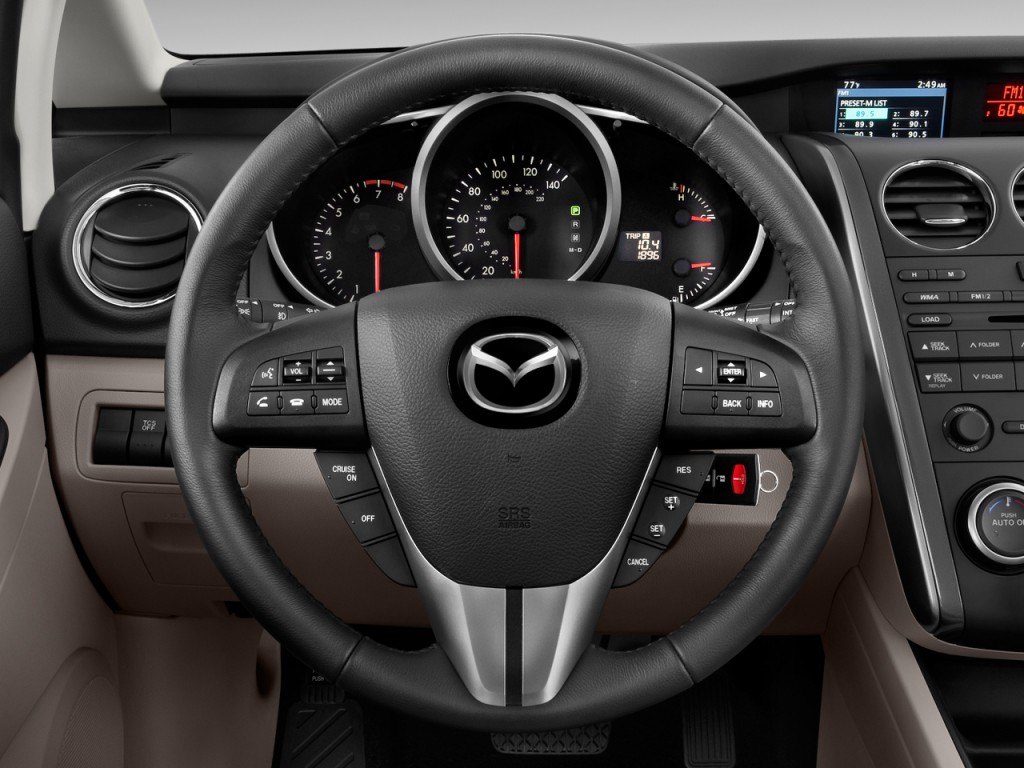 image 2010 mazda cx 7 fwd 4 door i sport steering wheel. Black Bedroom Furniture Sets. Home Design Ideas