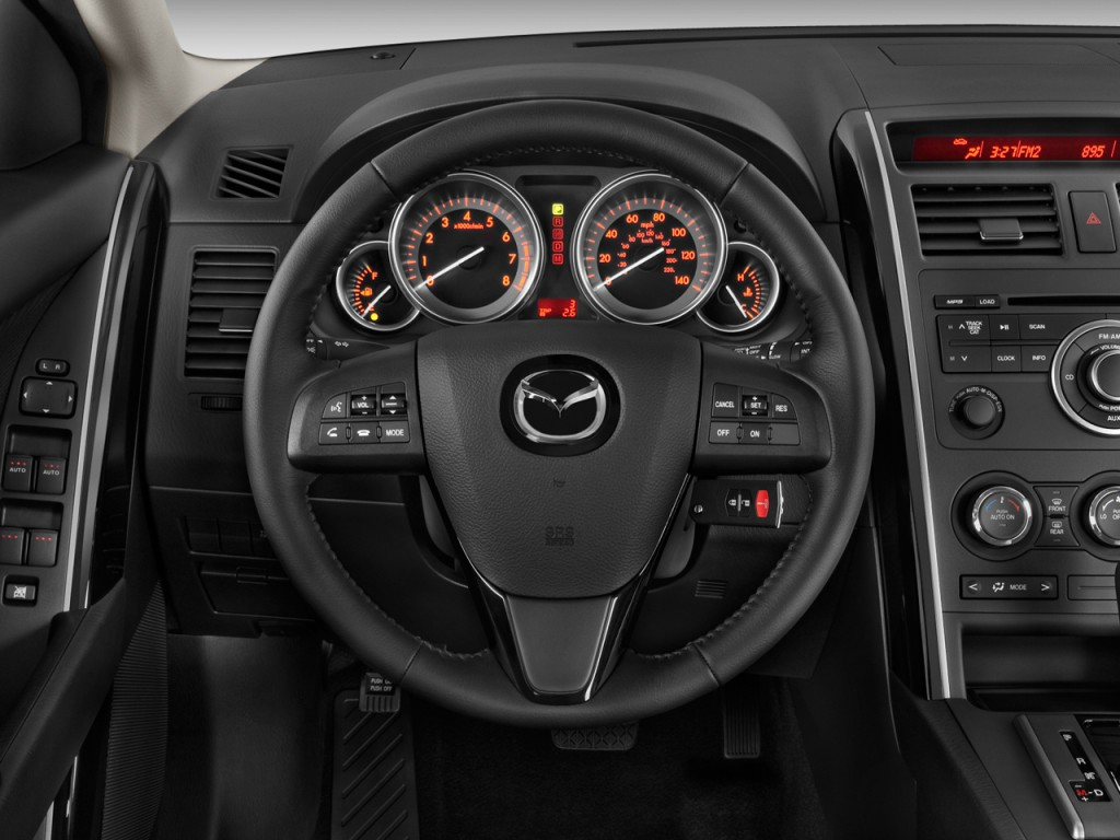 image 2010 mazda cx 9 fwd 4 door sport steering wheel. Black Bedroom Furniture Sets. Home Design Ideas