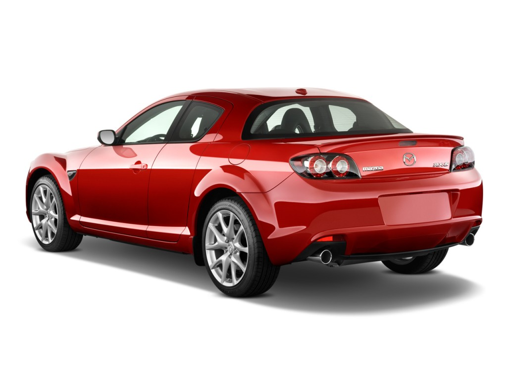 Image 2010 Mazda Rx 8 4 Door Coupe Man Grand Touring Angular Rear Exterior View Size 1024 X
