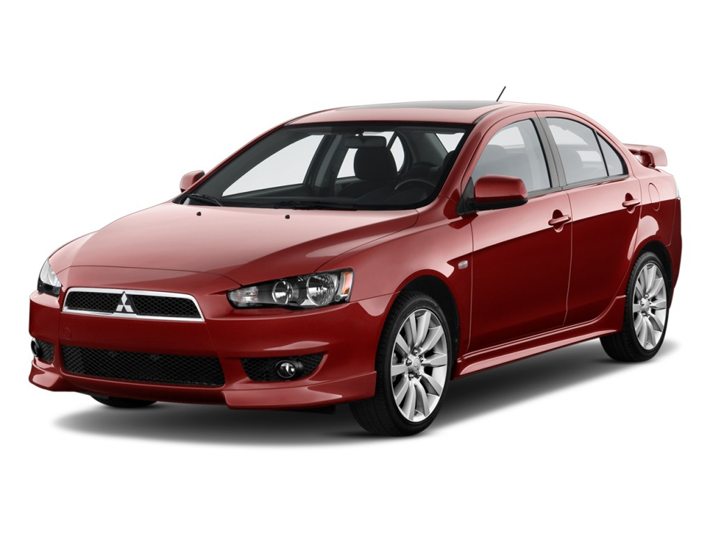 2010 Mitsubishi Lancer 4-door Sedan CVT GTS Angular Front Exterior View