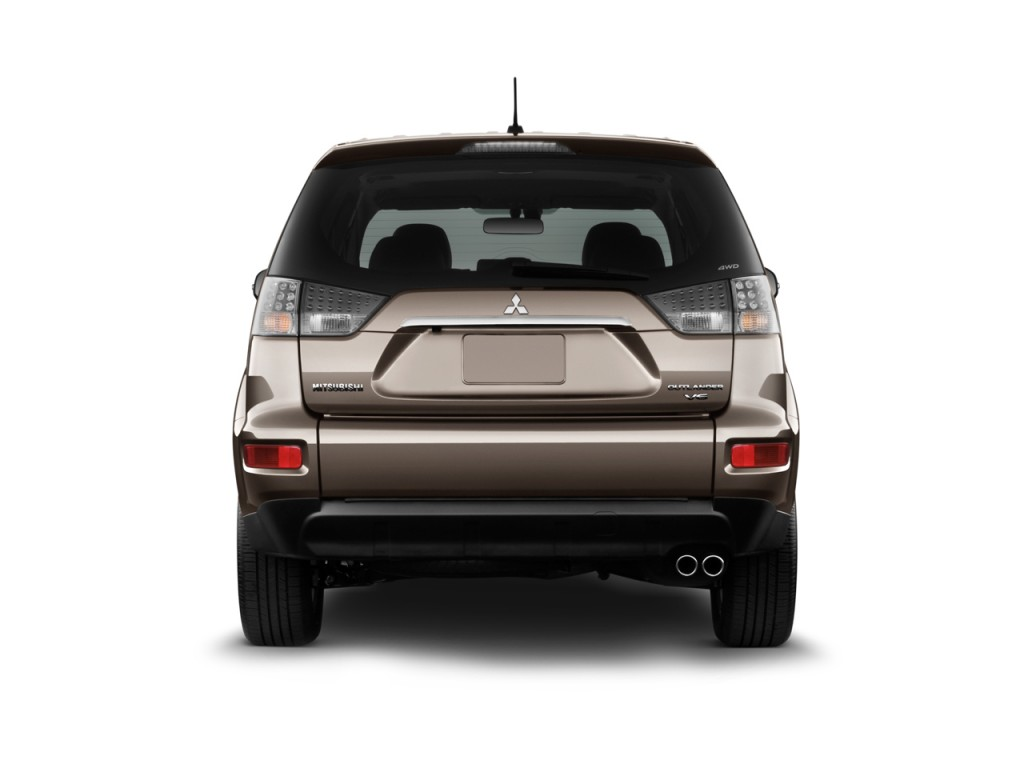 2010 Mitsubishi Outlander AWD 4-door GT Rear Exterior View