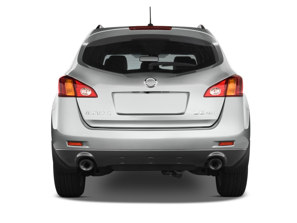 Image: 2010 Nissan Murano AWD 4-door LE Rear Exterior View ...