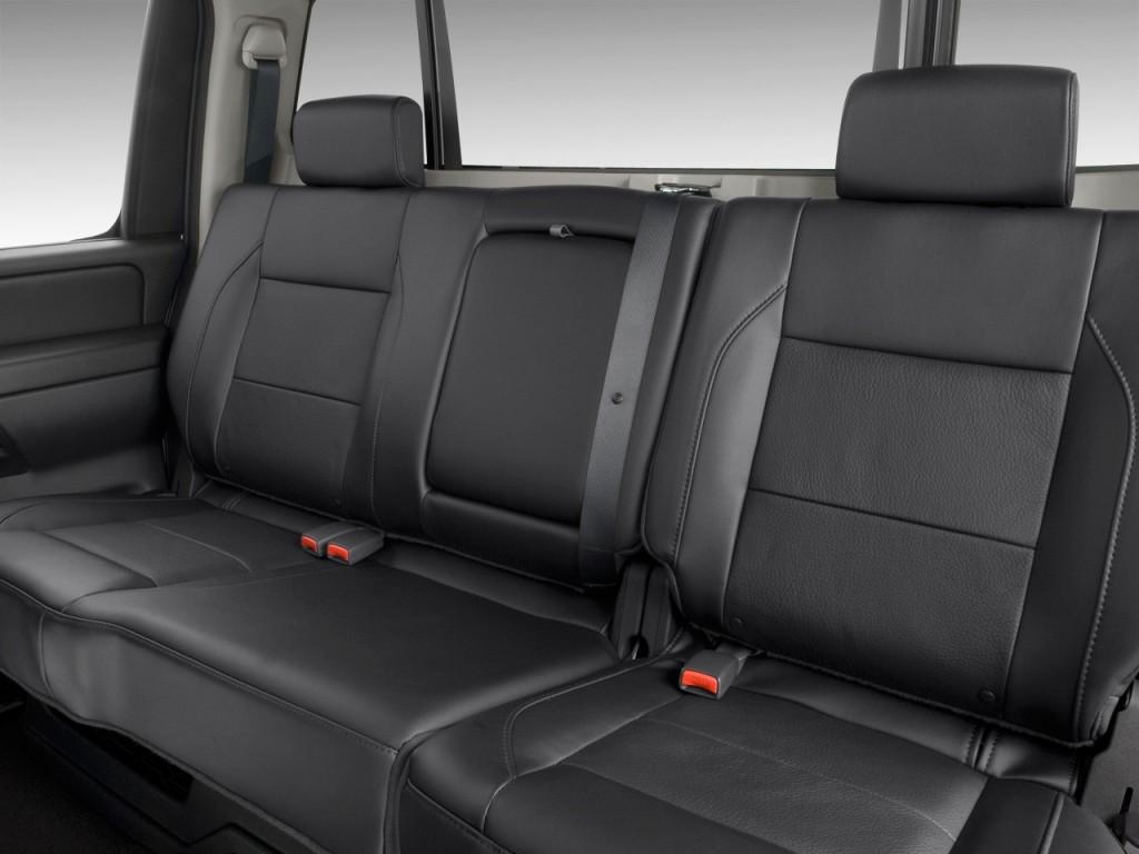 Image: 2010 Nissan Titan 4WD Crew Cab SWB LE Rear Seats ...