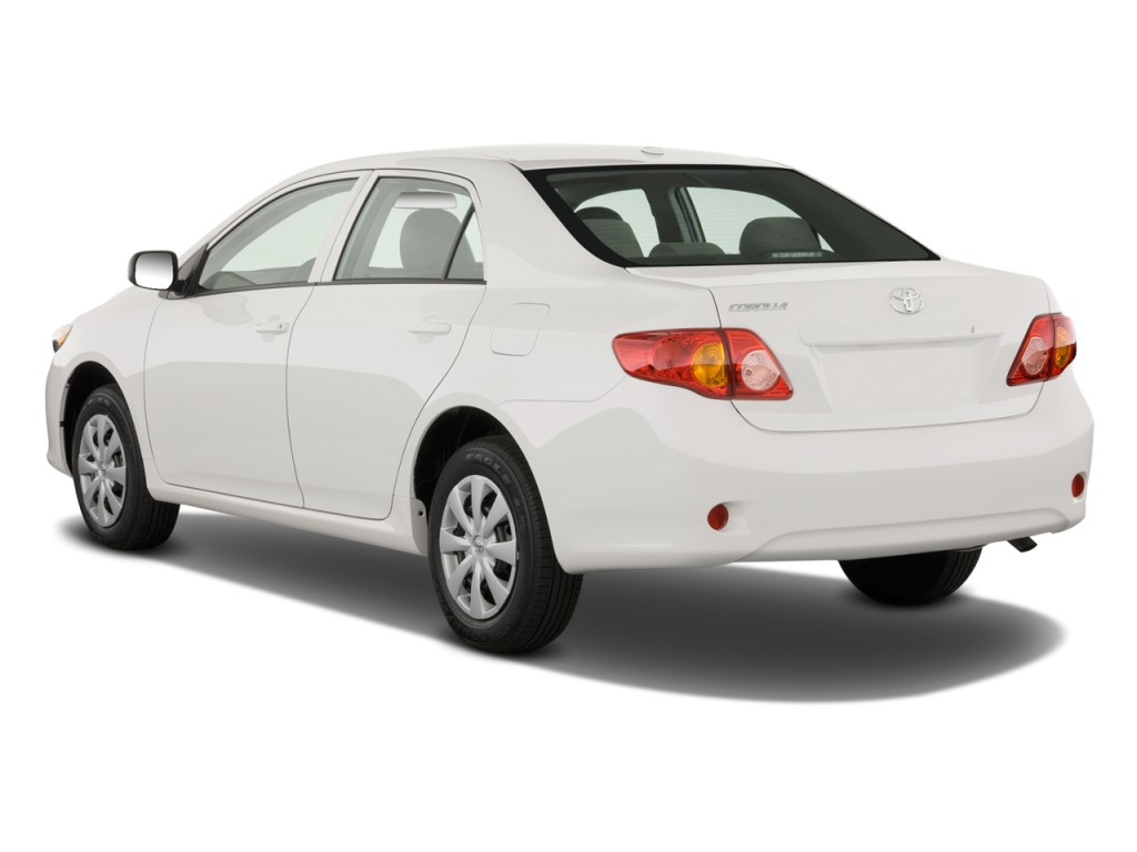 image  toyota corolla  door sedan auto natl angular rear exterior view size