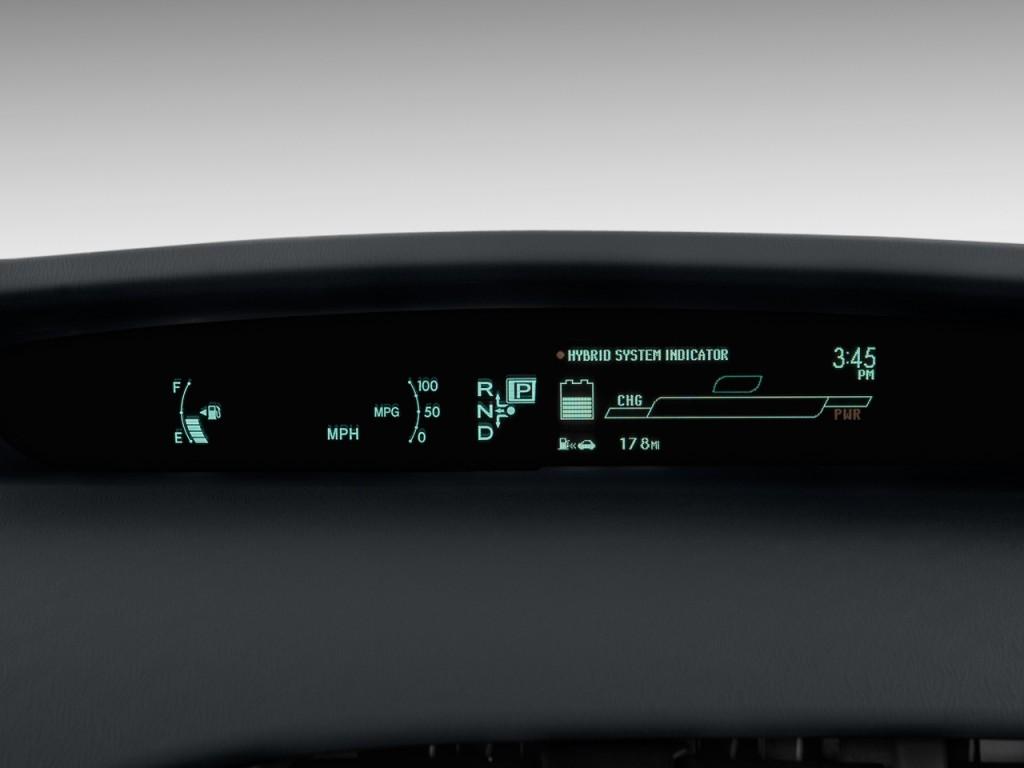 Image: 2010 Toyota Prius 5dr HB II (Natl) Instrument ...