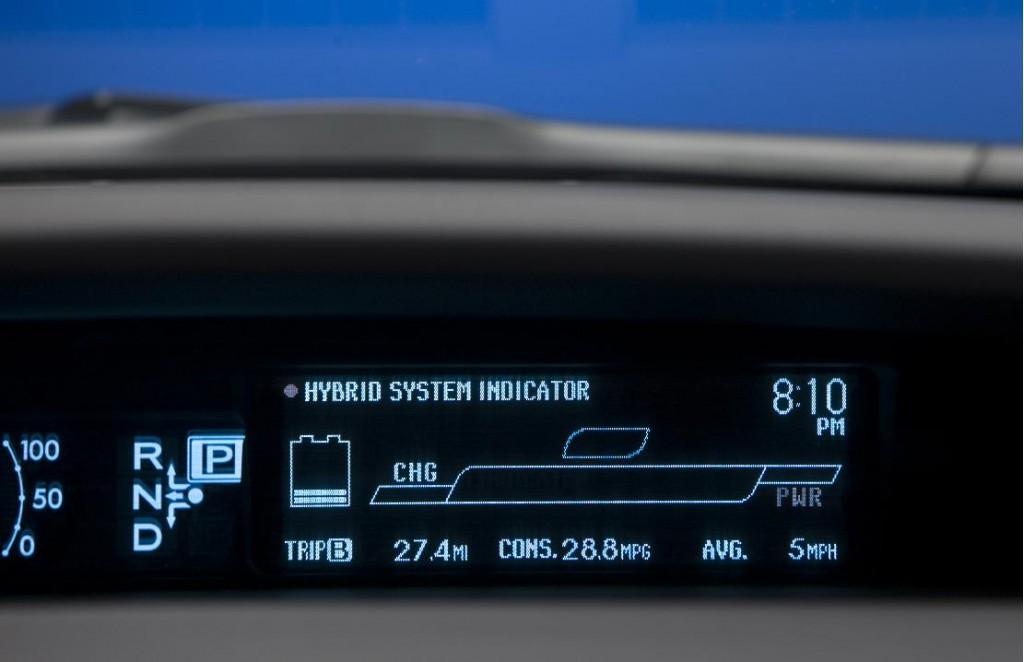Image 2010 Toyota Prius Hybrid System Indicator Size