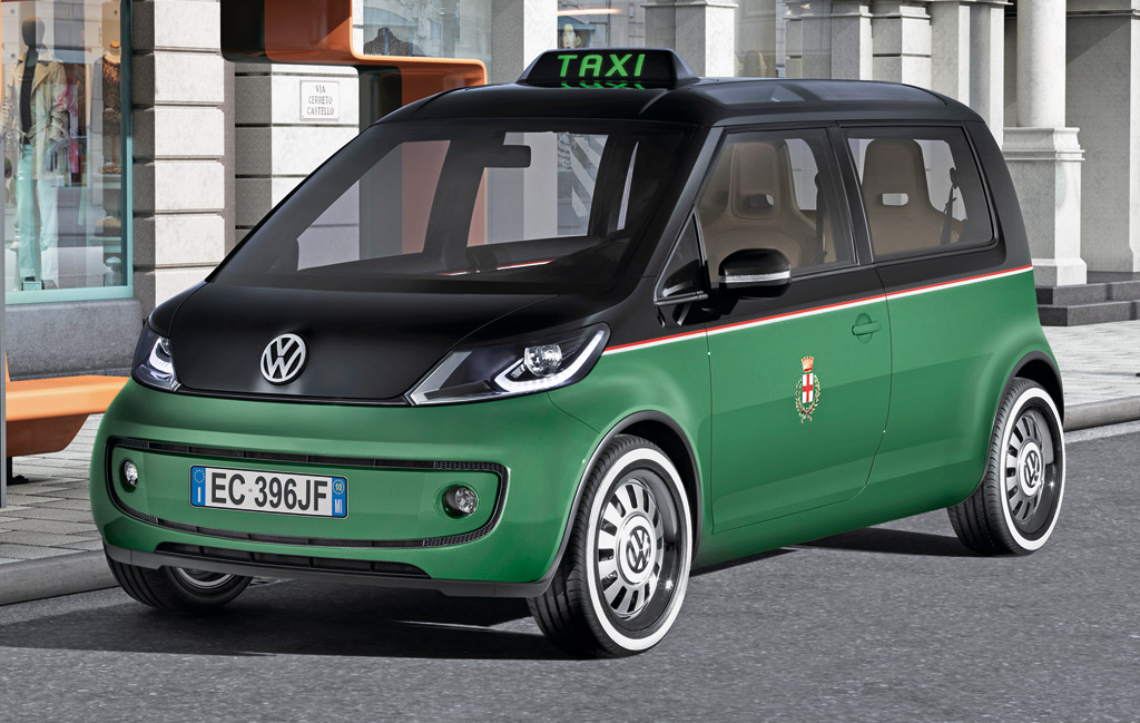 volkswagen previews  emissions milano taxi concept
